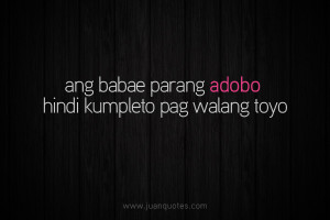 Your Past Funny Tagalog Quotes Pick Lines Juan