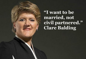 Clare Balding equal marriage quote