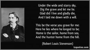 More Robert Louis Stevenson Quotes
