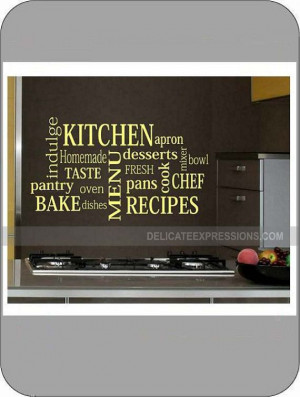 Kitchen Subway Art (SMALL) - Vinyl Wall Art Lettering, Quotes, Decals ...