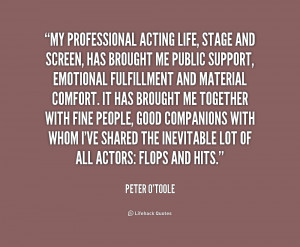 Quotes About Acting On Stage