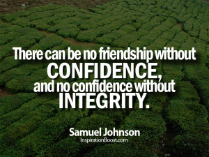 Samuel Johnson Quotes, Friends Quotes, Friend Quotes, integrity quotes ...