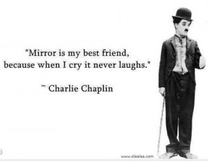 Friendship Thoughts-Quotes-Charlie Chaplin-Best Friend-Mirror-Great