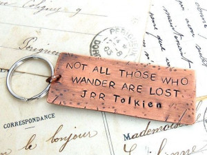 Copper Keyring, Stamped Metal, Keychain, J R R Tolkien Quote ...