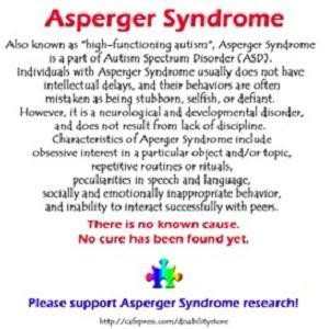 ... Asperger 's and Autism have special educational needs in this area