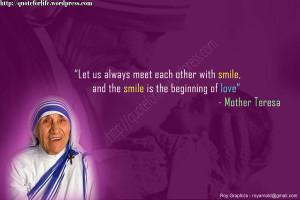 Christian Quote: Smile By Mother Teresa Papel de Parede Imagem