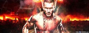 Randy Orton Flaming Cover Facebook Cover