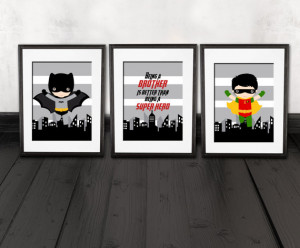 Batman and robin brother quote wall decor, kids room decoration PRINTS ...