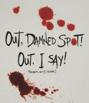 Lady Macbeth did not seem so frazzled when she first had the blood ...