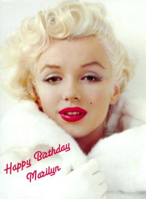 Happy Birthday dear Marilyn!!