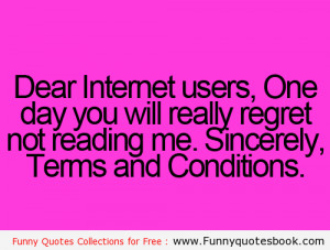 Funny message for Internet Users - Funny Quotes