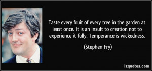 Taste every fruit of every tree in the garden at least once. It is an ...