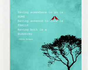 Home Family Quote Family is a Bles sing Sign, Anniversary Gift ...