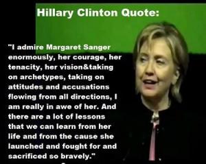 ... praises the eugenicist founder of Planned Parenthood, Margaret Sanger