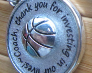 Coach pendant ...thank you for investing in our lives...thank you ...