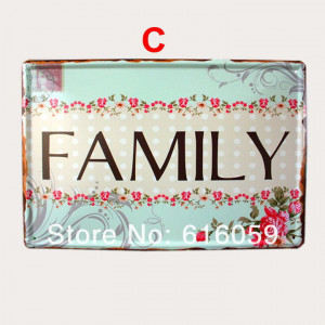 Do it ] Family Quote Metal Signs House BAR Metal painting MIX ORDER ...