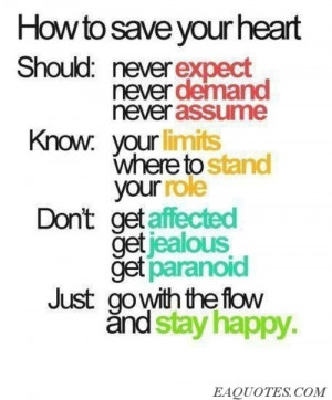 How to save your heart | Image Quote Eaquotes.com | We Heart It
