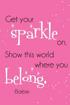 Get Your Sparkle on. Show this world where you Belong.