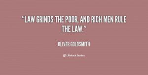 Poor And Rich Men Rule...