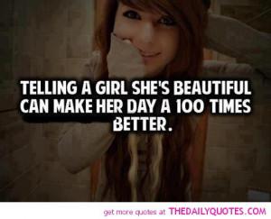telling girl beautiful