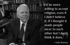 Andy Rooney on religion