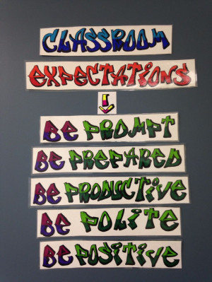 Middle School Math - Classroom Expectations - The 5 P's - Written in ...