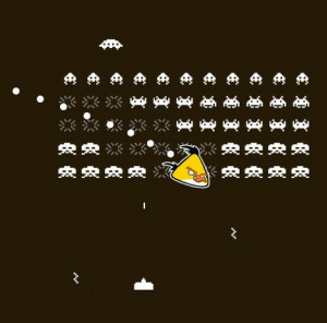 Angry Invader. (Angry Birds meets Space Invaders) http://www ...