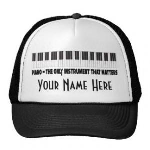 Funny Piano Hats