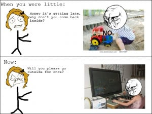 When You Were Little vs Now