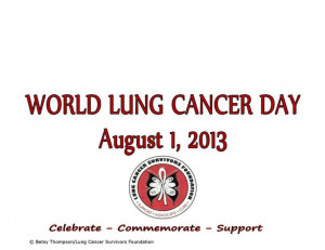 World lung cancer day!