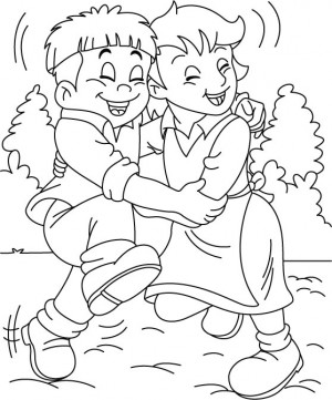 free coloring pages for friendship