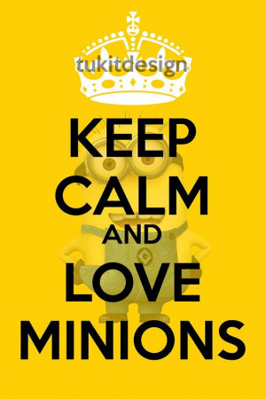 Keep Calm and Love Minions Poster 16x24 - INSTANT DOWNLOAD on Etsy, $3 ...