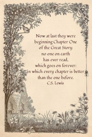 ... forever in which every chapter is better than the one before c s lewis