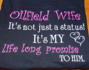 Oilfield Wife Monogrammed T-Shirt