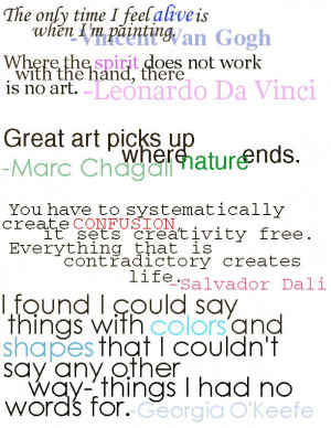 Quotes-Favorite Famous Artists