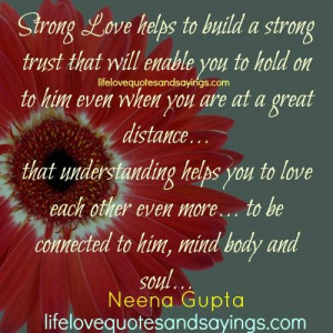 Strong Love Helps To Build..
