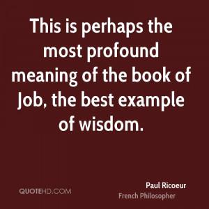 Paul Ricoeur Wisdom Quotes