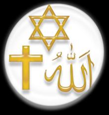 Symbols of the three main Abrahamic religions – Judaism ...