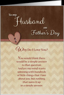 Father's Day for Husband Wife Cards for Husband Wife