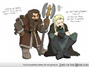 My Favorite Legolas and Gimli Fanart! Bromance (Deviantart)