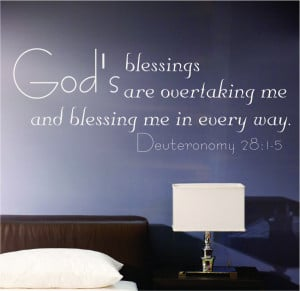 Deuteronomy 28:15 Gods Blessings...Religious Wall Decal Quotes