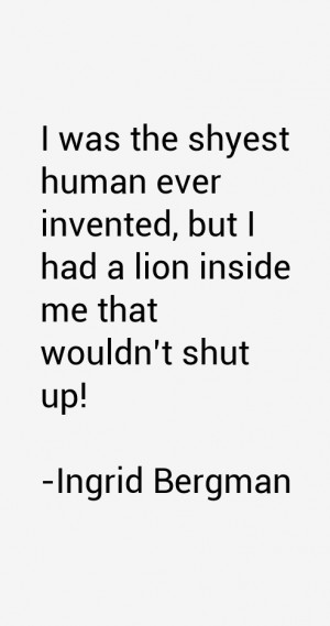 Ingrid Bergman Quotes amp Sayings