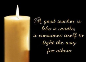of something that will be recognizing and honouring teachers ...