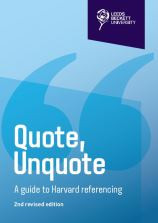 Quote, Unquote (PDF guide) a guide to Harvard referencing