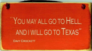 Texas Products-Tee Shirt-Davy Crockett Quote-Navy