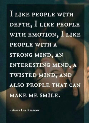 People with a strong mind!!