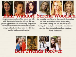 gossip girl quotes blair and serena friendship