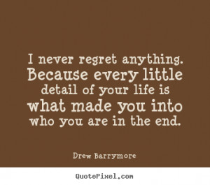 Drew Barrymore Life Print Quote On Canvas