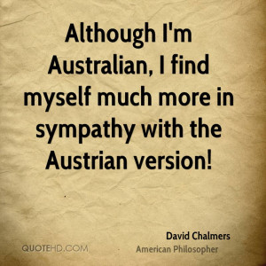 Although I'm Australian, I find myself much more in sympathy with the ...