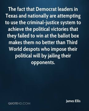 Texas and nationally are attempting to use the criminal-justice system ...